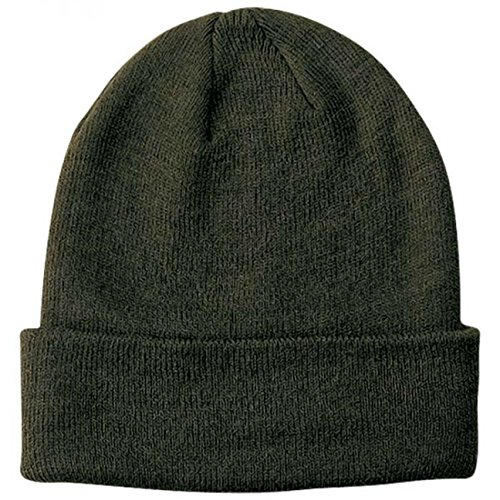 Wind Pull On beanie con risvolto beanie invernale One Size - oliva