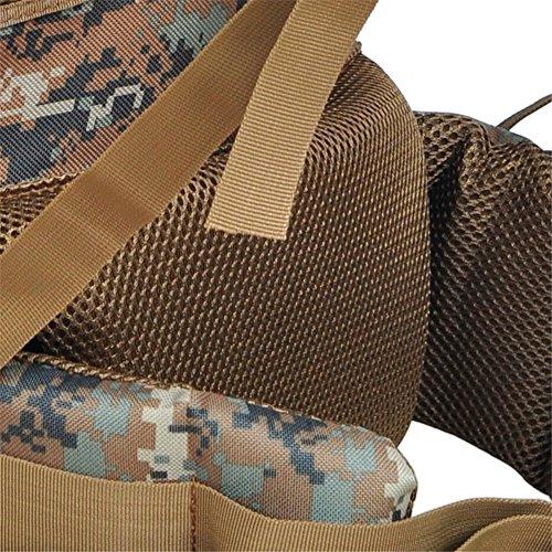 aofit 65L Zaino Militare Combattimento Tattico Zaino Trekking Zaino Outdoor Sport Zaino Zaino multifunzione con telaio in alluminio a forma di U borsa da viaggio campeggio zaino da escursionismo, Uomo jungle camouflage