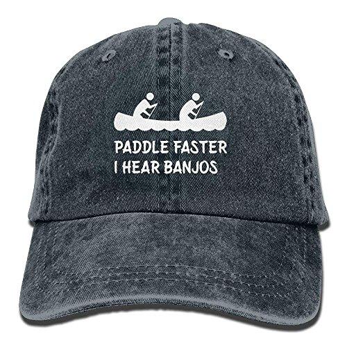 fboylovefor Paddle Faster I Hear Banjos Cotton Adjustable Cowboy Hat Baseball Cap for Adult Unisex -