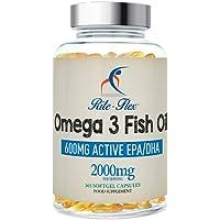 Rite-Flex | Olio di Pesce Omega 3 2000mg | Integratore Alimentare di 600mg EPA e DHA (365 Capsule Softgel)