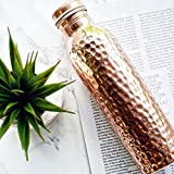 #5: Style Homez Hammered Lacquer Coated Leak Proof Pure Copper Bottle 1000 ML Handmade, Ayurveda and Yoga Bottle with Medicinal Benefits