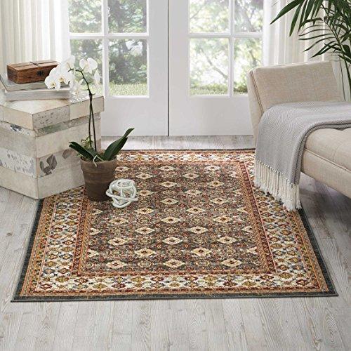Nourison Teppich Mondrian 99446372680-Grau maschinell gewebt Teppich, grau, 3ft 27,9cm x 5ft 27,9cm - Nourison Nourison Teppich Grau