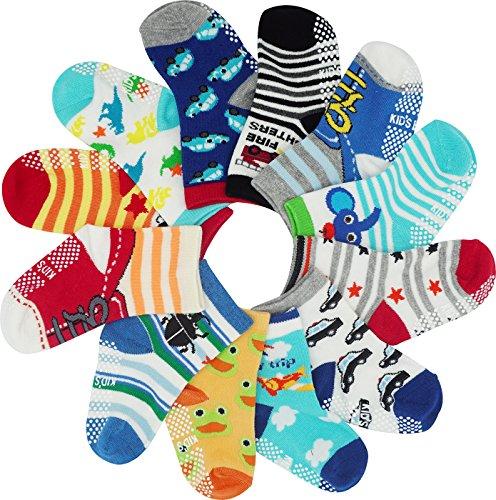 Bienvenu Baby Jungen (0-24 Monate) Socken Gr. 36-40, Multi Color-4 (Happy Halloween Animal Costumes)