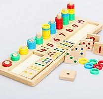 Juleya kurşun Zahlenkarten ve Zaehlstangen Kasten, Montessori Materialstoecke matematik malzeme çocuklar için pedagojik...