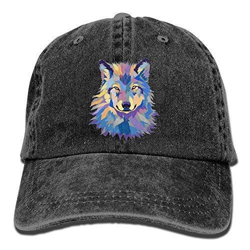 ewtretr Cool Wild Wolf Adult Sport Baseball cap Cowboy Hat Adjustable Unisex Suitable for all Seasons