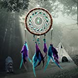 Dream Catcher Cuir Plume Dreamcatcher Pendaison Dcoration