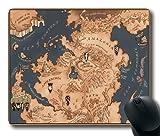 """Juego de Tronos mapa personalizado antideslizante rectangular ratón alfombrillas en 7""""* 9(220mm * 180mm * 3mm)"""