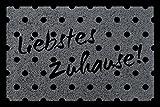 TÜRMATTE Fußmatte LIEBSTES ZUHAUSE! Spruch Begrüßung Flur Haustür Viele Farben Dunkelgrau