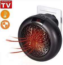 Portable Heater Mini Heizung für die Steckdose, 1000W Tragbare und Leistungsstarke Heizlüfter mit Thermokeramik, Original Produkt aus TV-Werbung (Schwarz)