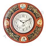 Vintage Clock Maharaja Style Hand-Painte...