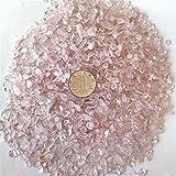 AITELEI 1 lb natürliche Rosenquarz getrommelt Chips zerdrückten Stein Healing Reiki Kristall unregelmäßige Geformte Steine Schmuck Machen Heimtextilien