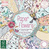 "First Edition Paper Flowers Premium Paper Pad 6""x6"" 64 Sheets"