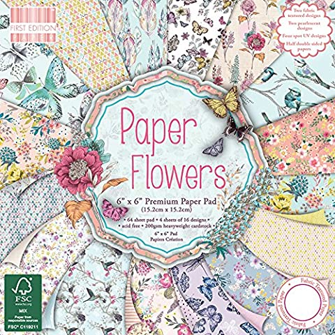 First Edition 6 x 6-Inch Paper Flowers