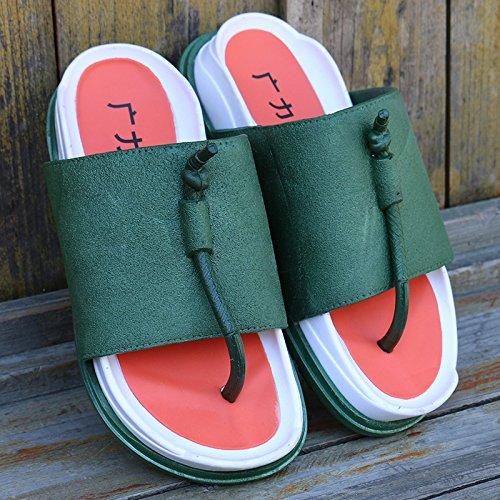 beest-flip-flops-par-de-zapatillas-hombre-verde44