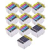 PerfectPrint - 40 de alta capacidad Compatible T0715 Cartucho de tinta para Epson Stylus B40W BX300F BX310FN BX600FW BX610FW D120 D120 D78 D92 DX4000 DX4050 WiFi DX4400DX4450 DX5000 DX5050 DX6000 DX6050 DX7400 DX7450 DX8400 DX7000F DX8450 DX9400 WiFi DX9400F S20S21 SX100 SX105 SX110 SX115