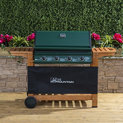 Fire Mountain - Elbrus 4 Burner Gas Barbecue - Green