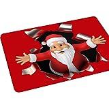 JIACHENG29antiscivolo zerbino in stile Babbo Natale cucina tappeto bagno 40x 60cm, Poliestere, 6#, taglia unica