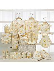 SHISHANG Caja de regalo de bebé 100% puro conjunto de regalo de algodón (17 conjuntos) (22 juegos) Ropa de bebé Niño niña cuatro estaciones para el bebé de 0-1 años de edad , 17 , B