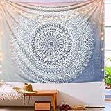 Gspirit Tapisseries Décoratives Mandala Indienne PsychedelicBohême Hippie Tenture Murale Serviette de Plage Chambre Tapestry 150 x 130 cm