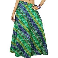 Las mujeres usan ropa de la playa de la falda larga de algodón maxi de Boho del Hippie del cordón