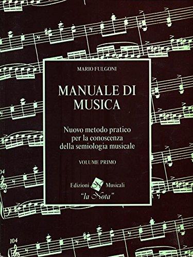 Manuale di musica. vol. 1