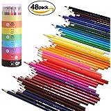 GYOYO 48 Crayons de Couleur, Art crayons, Dessin au crayon coloré Crayons d'Artiste Dessin pour fourniture des écoles des beaux-arts et livres de coloraige pour l'adulte,enfant