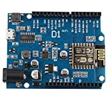 HALJIA esp8266esp-12e WiFi Wireless Development Board für Arduino UNO IDE kompatibel für wemos D1