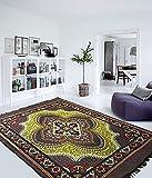 "AAZEEM Modern Polyester Carpet - 54"" x 78"", Green"