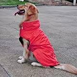 #4: MagiDeal Waterproof Dog Coat Jacket Fleece Lined Raincoat Clothes Pet Supplies - red, XXL