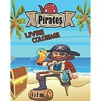 Pirate Coloriage 4-8 ans: 30 coloriages inédits de pirates, bateaux et de trésors | 62 pages, format A4 ((20,32 x 25,5…