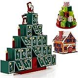Adventskalender Pyramide Holz zum Selbstbefüllen - Weihnachtsdeko Holzkalender