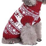 YZBear Hundebekleidung Hundemantel Hundejacke Weihnachten Rentier Hundepullover Warm Winter für kleine und große Hund - 3