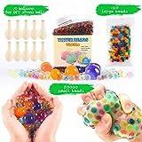 Perles d'eau Lot (50 000 petites perles d'eau/160 Grande Jumbo Perles d'eau/10 ballons) mixtes Jelly Perles d'eau Gel boules pour jouets sensoriels et décoration (A)
