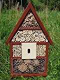 Insectos hotel Insectos casa Abejas Insectos Nido mano montado lleno 56x 35x 10cm Suecia Rojo
