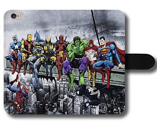 Oves Marvel Funny Cool Superman Flash Hulk Deadpool Wolverine Batman Iron Man Captain America Spiderman Venom Comics Break Magnetverschluss Halter Telefon Schutzhülle, iPhone 7 - Flash Venom