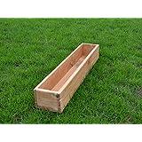 Sottovasi in legno per piante, ideali per giardino, balcone e terrazzo, già montati, colore: rovere, D6