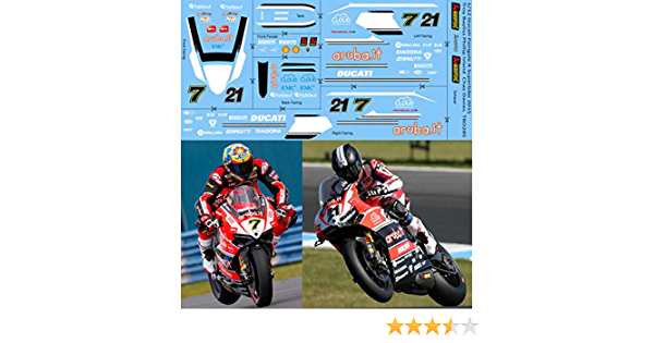 1//12 Ducati Panigale R Superbike 2015 SBK Troy Bayliss Chaz Decals Decal TBD285