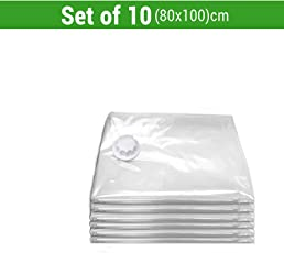 TIED RIBBONS Vacuum Compressed Space Saver Storage Bags Ideal for Clothes, Duvets, Bedding, Pillows, Curtains and Travelling Set of 6(60 cm X 80 cm) Pump Not Included