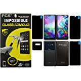 FCS Anti Shock Armor Screen Protector Flexible Screen Guard for LG G8X ThinQ Covers All Three Screens & Camera Front…