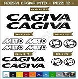 Adhésifs stickers pegatina CAGIVA MITOO moto motorcycle cod. 0553 (Nero cod. 070)