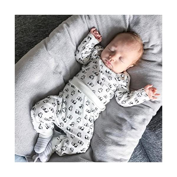 Camisas y Pantalones con Gorras Bebe Navidad Pijamas Enteros de Invierno para Niño y Niña por ESAILQ E 4