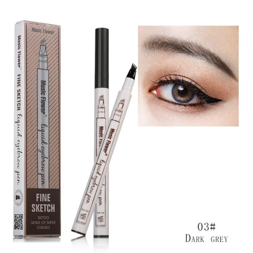 FangSi 2018 Tattoo Eyebrow Pen con Cuatro Puntas duraderas Waterproof Brow Gel para Maquillaje de Ojos (03#—es)