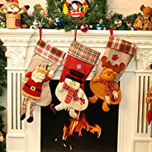 Calcetín navideño Lovely Snowman Stocking Regalo de Navidad Bolsa de caramelos Holiday Festive Hanging Decoraciones (21.5 * 50.5 * 24cm Snowman)