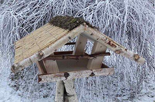 """Vogelfutterhaus mit Reetdach """"Friesenhaus groß"""""""
