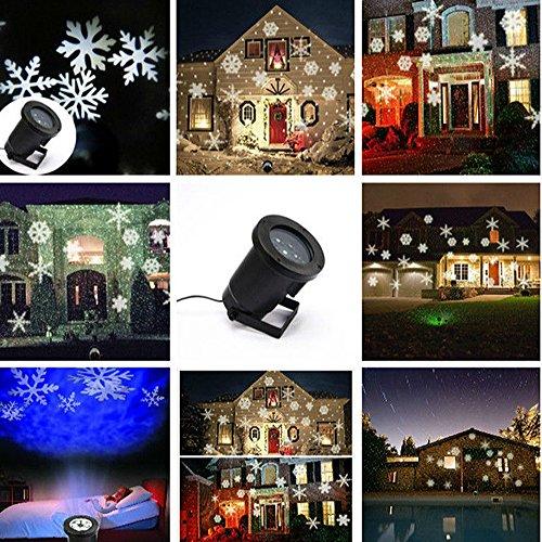 Projecteur LED Mouvement Flocon de Neige Lumineux, YUMOMO Lumiere  Decoration de Projecteur Pere Noel Exterieur, Lampe Sur Pied de Salon 72199d164ef6