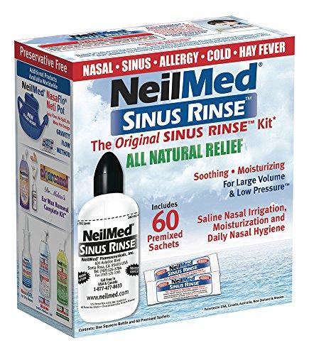 NeilMed Nebenhöhlenspülung Kit 240 ml Flasche mit 60 Beutel, 1 Set