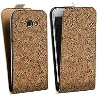 Samsung Galaxy A5 (2017) Tasche Hülle Flip Case Holz Look Kork