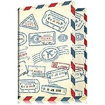 Fintie Pasaporte Funda Cartera - Cuero PU Porta Pasaporte de con Protección RFID, Stamp Design