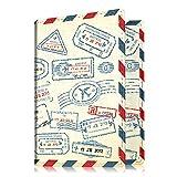 Cartera para el pasaporte, piel sintética de primera calidad, funda para el pasaporte, soporte, cartera para documentos de viaje, bloqueo de RFID.Protección segura para el pasaporte, tarjetas de visita, tarjetas de crédito, tarjetas de embarque Z-Stamp Design