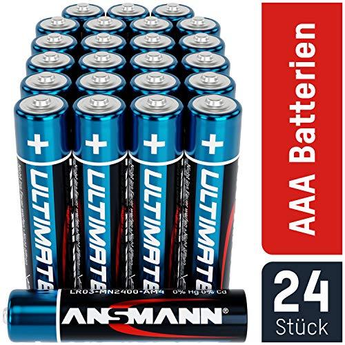 ANSMANN Batterien AAA 24 Stück - Alkaline Micro Batterie ideal für Lichterkette, LED Taschenlampe, Spielzeug, Fernbedienung, Wetterstation, Radio, Nachtlicht, Uhr - umweltschonende Verpackung